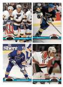 1991-92 Topps Stadium Club Hockey Team Set - St. Louis Blues