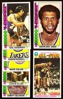 1976-77 Topps Basketball Team Set - Los Angeles Lakers