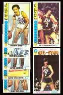 1976-77 Topps Basketball Team Set - New Orleans Jazz