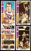 1976-77 Topps Basketball Team Set - Philadelphia 76ers