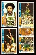 1976-77 Topps Basketball Team Set - Seattle Supersonics