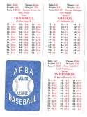 1982 APBA Season - DETROIT TIGERS Team Set