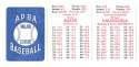 1982 APBA Season - LOS ANGELES DODGERS Team Set