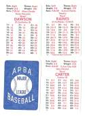 1982 APBA Season - MONTREAL EXPOS Team Set