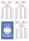 1982 APBA Season - NEW YORK YANKEES Team Set