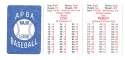 1982 APBA Season - SEATTLE MARINERS Team Set