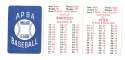 1982 APBA Season w/ Extra Players - TORONTO BLUE JAYS Team Set