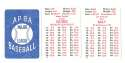 1982 APBA Extra Players Season - KANSAS CITY ROYALS Team Set