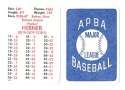 1982 APBA Extra Players Season - PITTSBURGH PIRATES Team Set