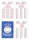 1983 APBA Season - CALIFORNIA ANGELS Team set