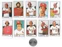 1983 All-Star Game Program Inserts ST LOUIS CARDINALS Team Set
