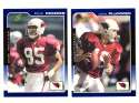2000 Score (Base) Football Team Set - ARIZONA CARDINALS