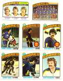 1976-77 Topps Hockey Team Set - Buffalo Sabres (Checklist marked)