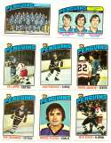 1976-77 Topps Hockey Team Set - Pittsburgh Penguins