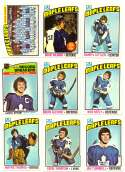 1976-77 Topps Hockey Team Set - Toronto Maple Leafs (Checklist Marked)