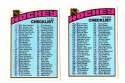 1976-77 Topps Hockey Team Set - Checklist both marked
