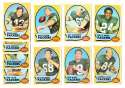 1970 Topps Football (VG Condition Read) Team Set - GREEN BAY PACKERS