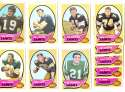 1970 Topps Football (VG Condition Read) Team Set - NEW ORLEANS SAINTS