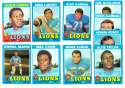 1971 Topps Football Team Set (EX Condition) - DETROIT LIONS