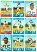 1971 Topps Football Team Set (EX Condition) - LOS ANGELES RAMS