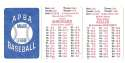 1901 APBA Season - BROOKLYN SUPERBAS (Dodgers) Set