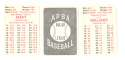 1950 APBA (reprint Written On) Season - BOSTON RED SOX Team Set