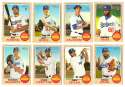 2017 Topps Heritage High Hi Numbers (501-700) - LOS ANGELES DODGERS