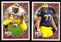 2008 Upper Deck Heroes Jake Long RC 151-152 Michigan Wolverines