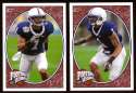2008 Upper Deck Heroes Justin King RC 173-174 Penn State Nittany Lions