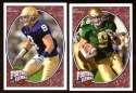 2008 Upper Deck Heroes Tom Zbikowski RC 197-198 Notre Dame Fighting Irish