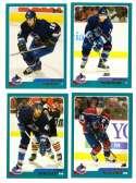 2003-04 Topps (1-330) Hockey Team Set - Vancouver Canucks