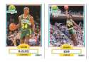 1990-91 Fleer Basketball Team Set - Seattle Supersonics