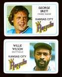 1981 Perma-Graphics Credit Cards - KANSAS CITY ROYALS Team Set