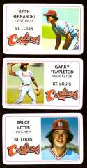1981 Perma-Graphics Credit Cards - ST LOUIS CARDINALS Team Set