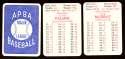 1980 APBA Season w/ EX players - BALTIMORE ORIOLES Team Set