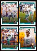 2017 Donruss Football Team Set - MIAMI DOLPHINS