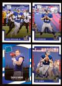 2017 Donruss Football Team Set - NEW YORK GIANTS