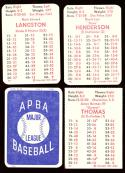 1984 APBA Season w/ Extra Players Written on  - SEATTLE MARINERS Team Set