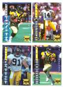 1995 Collector's Edge Football Team Set - PITTSBURGH STEELERS
