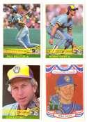 1984 Donruss - MILWAUKEE BREWERS Team Set