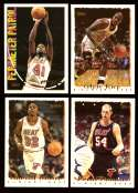 1994-95 Topps Basketball Team Set - Miami Heat