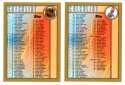 1998-99 Topps Hockey Checklist 2 cards