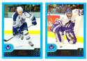 2001-02 Topps Hockey (1-330) Team Set - Toronto Maple Leafs