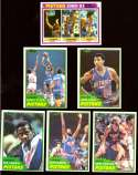 1981-82 Topps Basketball Team Set - Detroit Pistons