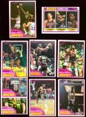 1981-82 Topps Basketball Team Set - Milwaukee Bucks