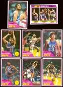 1981-82 Topps Basketball Team Set (EX Conditon) - New Jersey Nets