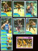 1981-82 Topps Basketball Team Set - New York Knicks