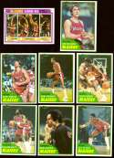 1981-82 Topps Basketball Team Set (EX+ Conditon) - Portland Trail Blazers