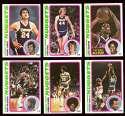 1978-79 Topps Basketball Team Set - Denver Nuggets