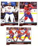 2017-18 Upper Deck Hockey (Base) Team Set - Montreal Canadiens